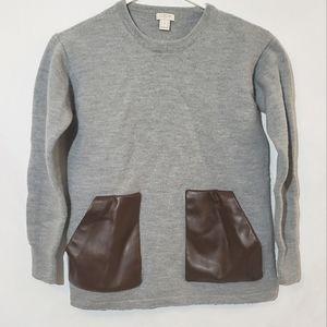 J.crew merino wool sweater gray with pockets